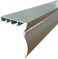 Карниз алюминиевый Алютерра Двухрядный 200 см Металлик (801047М 200 см)