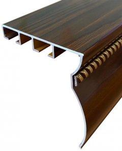 Карниз алюминиевый Алютерра Двухрядный 150 см Дерево (801047Д 150 см)