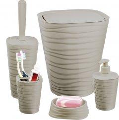 Набор аксессуаров для ванной комнаты PLANET Welle 5 предметов латте
