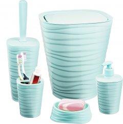 Набор аксессуаров для ванной комнаты PLANET Welle 5 предметов серо-голубой