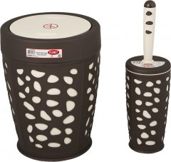 Набор аксессуаров для ванной комнаты PLANET Stone 2 предмета коричневый/кремовый