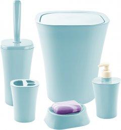 Набор аксессуаров для ванной комнаты PLANET Papillon 5 предметов серо-голубой