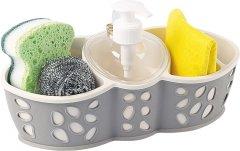 Набор аксессуаров для ванной комнаты PLANET Stone серый/кремовый