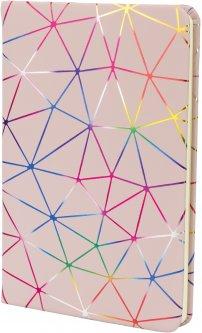 Блокнот Maxi PU фольгированный А5 80 листов линия (MX26247)