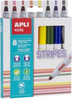 Набор маркеров Apli Kids Stripes 8 цветов (16809) (8410782168096)
