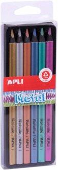 Набор карандашей Apli Kids Jumbo Металлик 6 цветов (18061) (8410782180616)