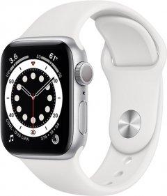 Смарт-часы Apple Watch Series 6 GPS 40mm Silver Aluminium Case with White Sport Band (MG283UL/A)