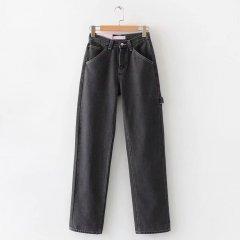 Джинси жіночі широкі з контрастною строчкою Vast Berni Fashion (L) Чорний (55851)