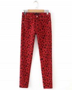 Джинси жіночі skinny з стрейчевого деніму Red Berni Fashion (XL) Червоний (55817)