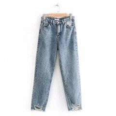 Джинси жіночі distressed широкі Voyage Berni Fashion (38) Синій (55821)