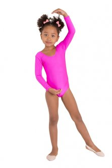 Купальник для гімнастики і танців Little Dancer DR-57-P малиновий розмір 30 ( ріст 110-116 см)