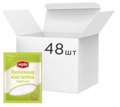 Упаковка кондитерского ингредиента Мрія Лимонна кислота 100 г х 48 шт (4820154833172)