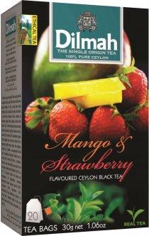 Чай черный пакетированный Dilmah Манго и клубника 1.5 г х 20 шт (9312631142167)