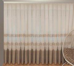 Тюль Декор-Ин Барселона Бежево-кремовый с вышивкой на льне 265х500 (Vi 100025) (ROZ6400050220)