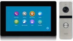 Комплект видеодомофона CoVi Security TAB FHD Black + Iron FHD Silver