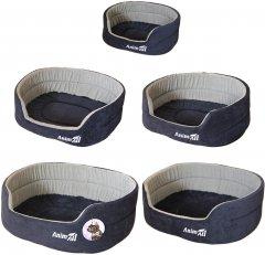 Набор лежанок для собак и кошек AnimAll Ат 1062 Alice Velvet Blue-grey 63 x 53 x 21 см (2000981181062)