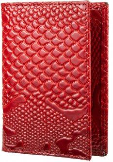 Женская обложка для водительских прав кожаная Karya SHI096-019 Красная (2900000116955)