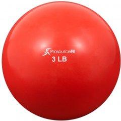 Мяч утяжеленный ProSource Toning Ball 1.36 кг Красный (ps-2222-smb-3lb)