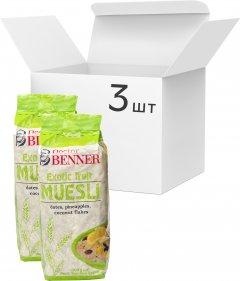 Упаковка мюсли Doctor Benner Exotic fruit 300 г х 3 шт (20132581040)