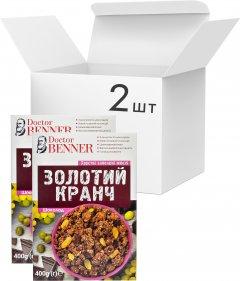 Упаковка золотых кранчей Doctor Benner Шоколадных 400 г х 2 шт (23029800194)