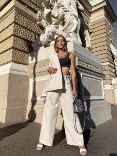 Широкие брюки-палаццо Boldness S Белые
