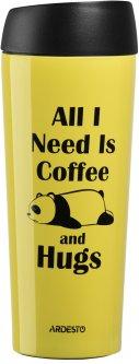 Термочашка Ardesto Coffee time Panda 450 мл Желтый (AR2645DTY)