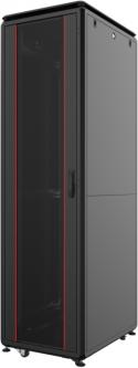 """Шкаф напольный Mirsan GTV 19"""" 42U 600x800, RAL 9005 Черный (MR.GTV42U68DE.01)"""