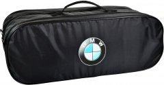 Сумка-органайзер в багажник БМВ черная размер 50 х 18 х 18 см (03-113-2Д)