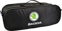 Сумка-органайзер в багажник Шкода черная размер 50 х 18 х 18 см (03-108-2Д)