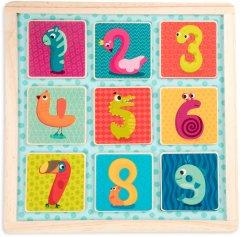 Деревянная игрушка-вкладыш Battat Магнитные цифры (BX1848GZ)