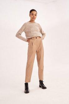 Жіночі шкіряні штани Stimma S світлий капучіно
