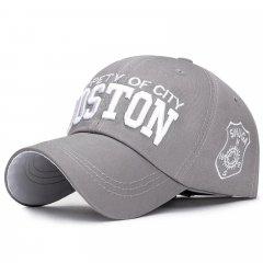 Кепка бейсболка Boston Серая, Унисекс