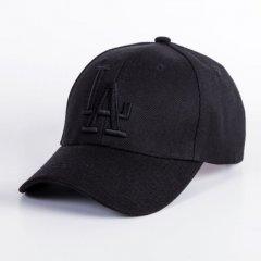 Кепка бейсболка LA (Лос-Анджелес) Полностью Черная, Унисекс