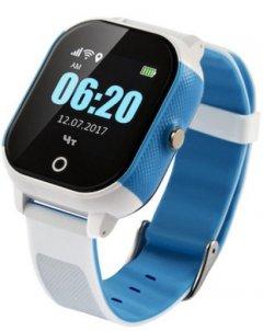 Детские телефон-часы с GPS трекером GOGPS ME К23 Blue-White (K23BLWH)