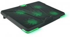 Охлаждающая подставка для ноутбука Crown CMLS-132 Black/Green