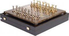 Шахматы Manopoulos Битва титанов в деревянном футляре 36 х 36 см 4.8 кг (S18MBRO)