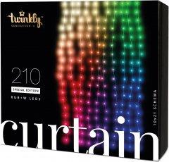 Светодиодная Smart LED гирлянда Twinkly Curtain,Wall RGBW 210, BT+WiFi, Gen II, IP44 кабель прозрачный (TWW210SPP-TEU)