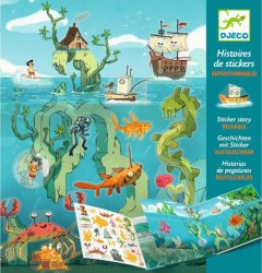 Набор Djeco с перемещаемыми наклейками Приключения в море (DJ08953) (3070900089532)