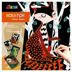 Набор для творчества скретч-арт Avenir Волшебные животные 4 раскраски (CH1542)