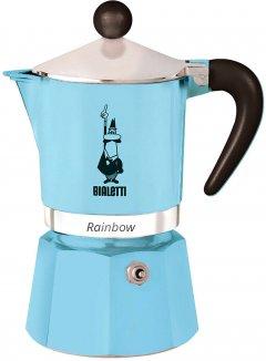 Кофеварка Bialetti Rainbow гейзерная на 6 чашек Светло-голубая (0005043)