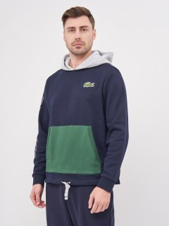 Худи Lacoste SH1574-GY3 L (T5) Navy Blue/Grey Chine/Green (3614038034592_2000003562503)