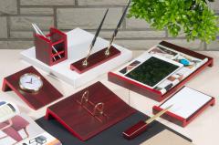Набор настольный деревянный Bestar Angled на 8 предметов Красное дерево (8141FDU)