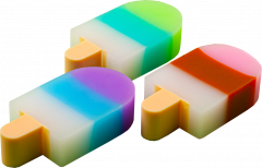 Набор ластиков ZiBi Ice Cream 40 шт Ассорти (ZB.5423)