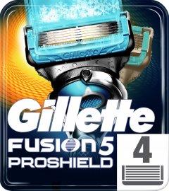 Cменные картриджи для бритья (лезвия) мужские Gillette Fusion5 ProShield Chill 4 шт (7702018412518)