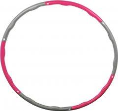 Гимнастический обруч Stein Hula Hoop 87 см Серо-розовый (LHL-1903)