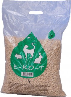 Наполнитель универсальный для котов, грызунов Е-КО-Т белая гранула Древесный впитывающий 7 кг (4820233620020)