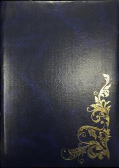Папка специальная Скат Узор А4 искусственная кожа Синяя (ПП-5с)