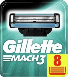 Сменные картриджи для бритья (лезвия) мужские Gillette Mach3 8 шт (3014260243548)