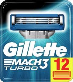 Сменные картриджи для бритья (лезвия) мужские Gillette Mach3 Turbo 12 шт (3014260298111)