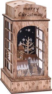 Декоративный фонарь Christmas Decoration 15х15х32.5 см (DH8044650_chapel)